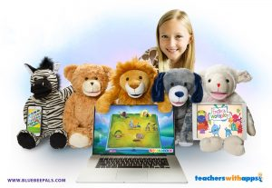 Bluebee Pals Plush Tech Educational Learning Tool