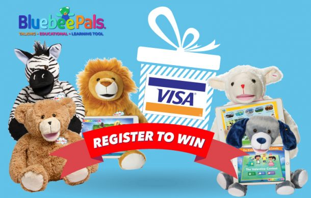 Bluebee Pals Register to WIN a $100 VISA Gift Certificate