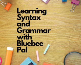 Learning Syntax and Grammar with Bluebee Pal
